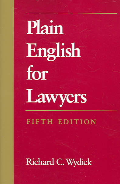 Plain English for Lawyers By Wydick, Richard C.